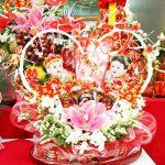 Lễ ăn hỏi 5 tráp truyền thống hoa quả 1