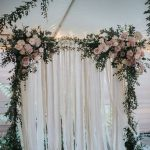 backdrop hoa lụa