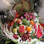 Lễ ăn hỏi 5 tráp truyền thống hoa quả 5