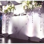 Backdrop trang trí tiệc cưới tại nhà