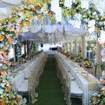Cổng hoa cưới trang trí tiệc cưới tại nhà