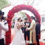 Trang trí tiệc cưới tại nhà mẫu cổng hoa