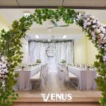 Trang trí tiệc cưới tại nhà mẫu cổng hoa 2