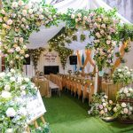 Trang trí tiệc cưới tại nhà khung nhà rạp mẫu 19