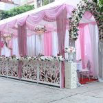 Trang trí tiệc cưới tại nhà khung rạp 4
