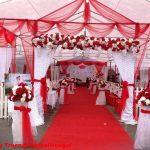 Trang trí tiệc cưới tại nhà khung rạp 7