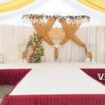 Trang trí tiệc cưới tại nhà Backdrop 2
