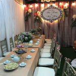 Trang trí tiệc cưới tại nhà Backdrop 10