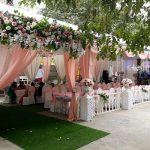 Trang trí tiệc cưới tại nhà khung rạp 1