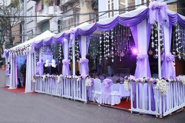 Dựng rạp đám cưới màu tím - rạp cưới hà nội