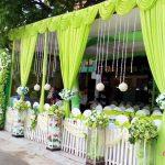 Nhà bạt đám cưới màu xanh lá cây