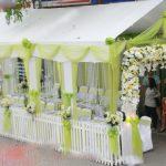 Khung rạp đám cưới màu xanh