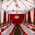 cho thuê nhà bạt đám cưới màu đỏ