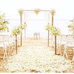 trang trí tiệc cưới theo phong cách biển