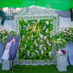 Backdrop đám cưới hoa tươi Thường Tín