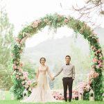 Cổng hoa cưới trang trí tiệc cưới ngoài trời 2