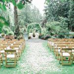 Lối đi lên sân khấu tiệc cưới ngoài trời 4