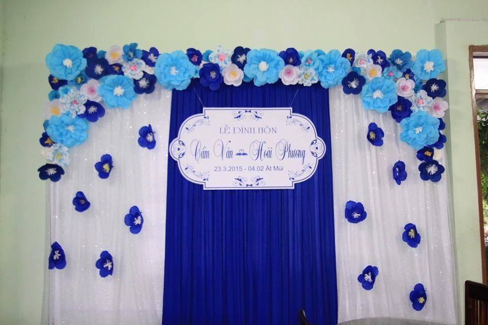 Các mẫu phông đám cưới màu xanh đẹp nhất