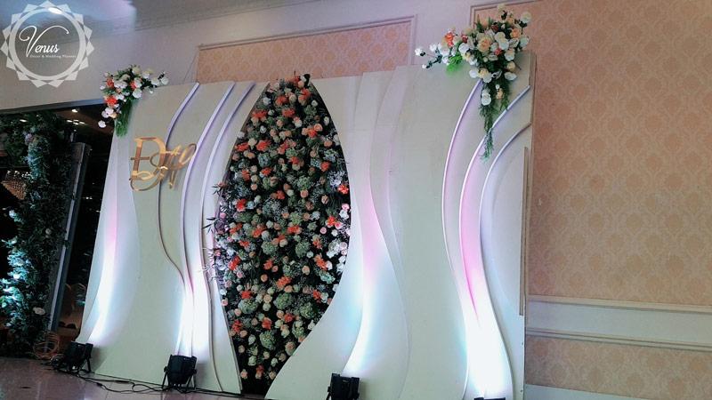 Backdrop đám cưới 3D sang trọng hiện đại 1