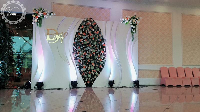 Backdrop đám cưới 3D sang trọng hiện đại