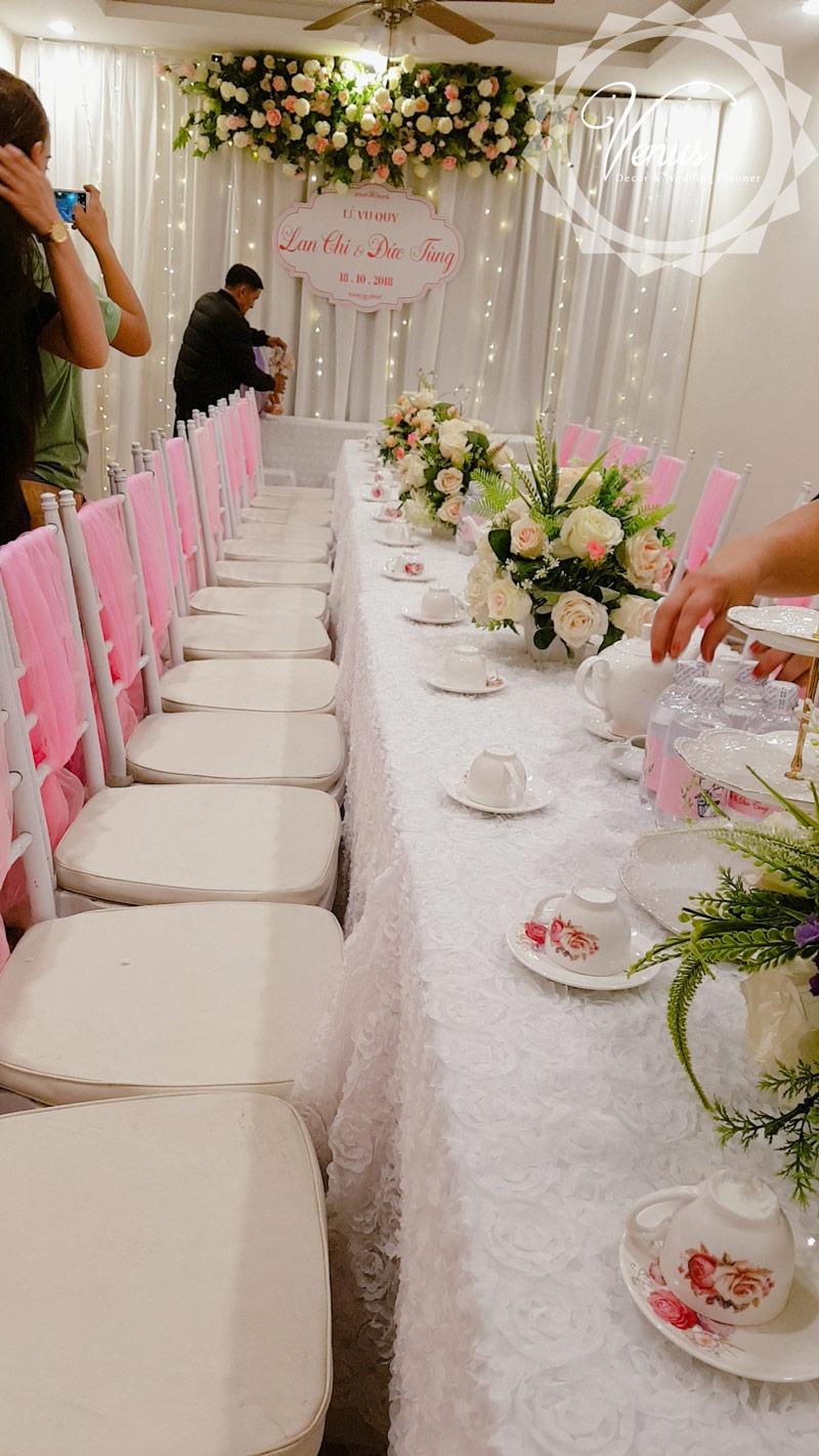 Bàn ghế tiệc cưới Lan Chi và Đức Tùng