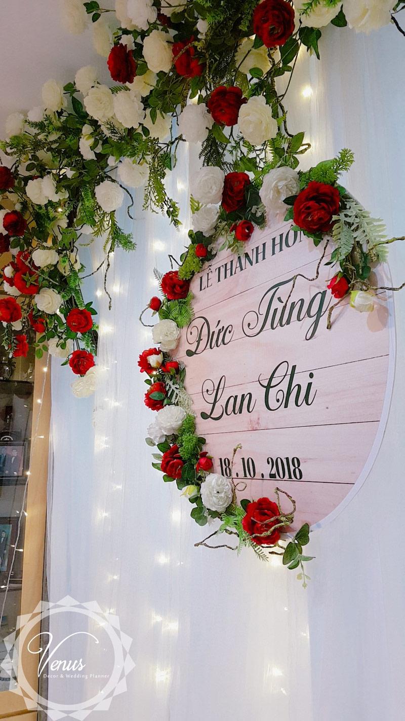 Phông đám cưới nhà trai Đức Tùng và Lan Chi