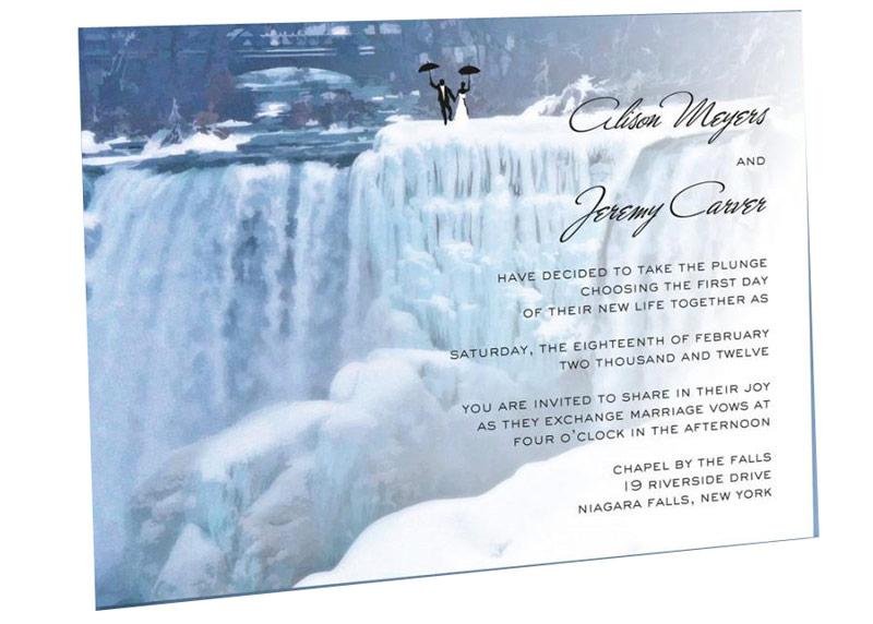Thiệp cưới phong cách đóng băng
