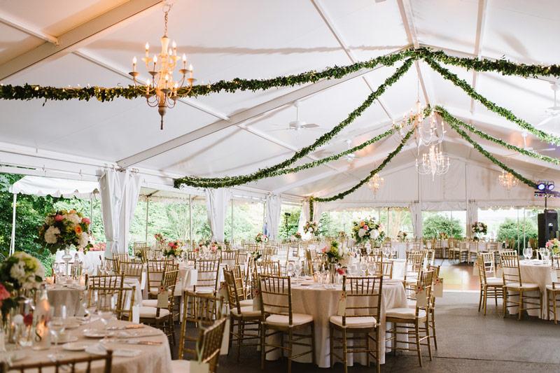 dự phòng cho tiệc cưới ngoài trời