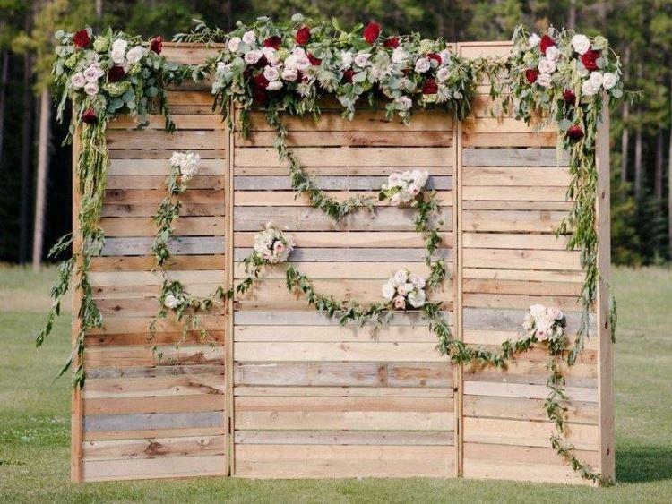 Backdrop đám cưới handmade