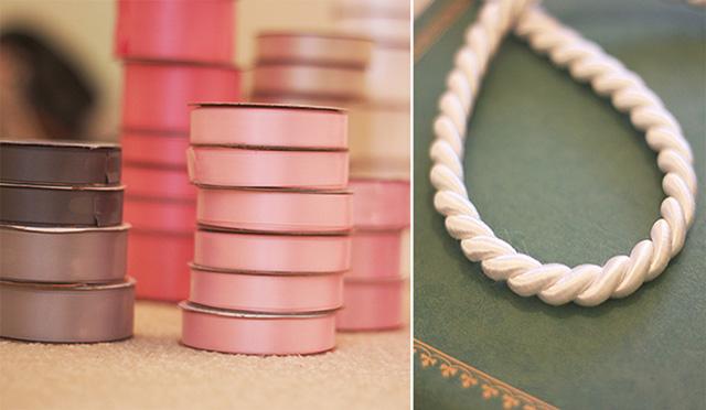 Cách làm backdrop đám cưới dây ruy băng bước 1