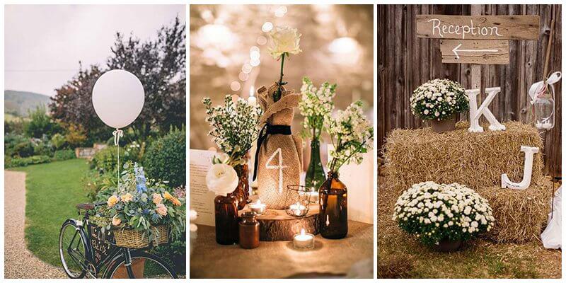 Các mẫu trang trí tiệc cưới Rustic