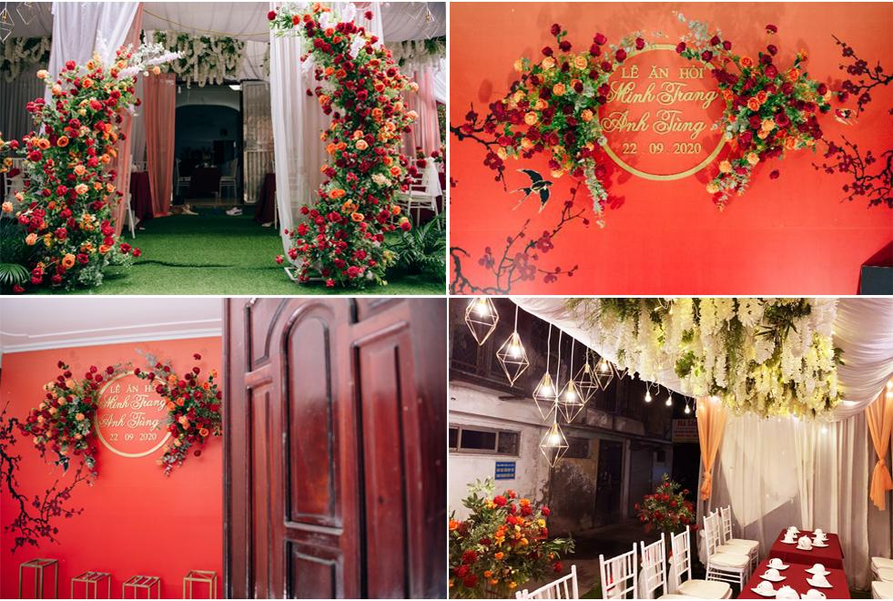 Mẫu trang trí tiệc cưới mùa thu