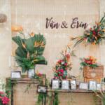 Trang trí tiệc cưới cổ truyền nhiệt đới